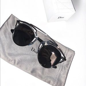 Sliver Dior SunGlasses Fashion Designer Glasses